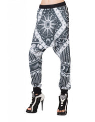 KTZ Sun Moon Print Harem Trousers Side