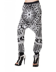 KTZ Sun Moon Puff Print Harem Trousers Side