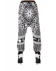 KTZ Sun Moon Puff Print Harem Trousers Back