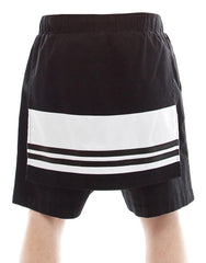 SKINGRAFT Panel Shorts in Black/White