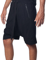 SKINGRAFT Drop Crotch Shorts Black