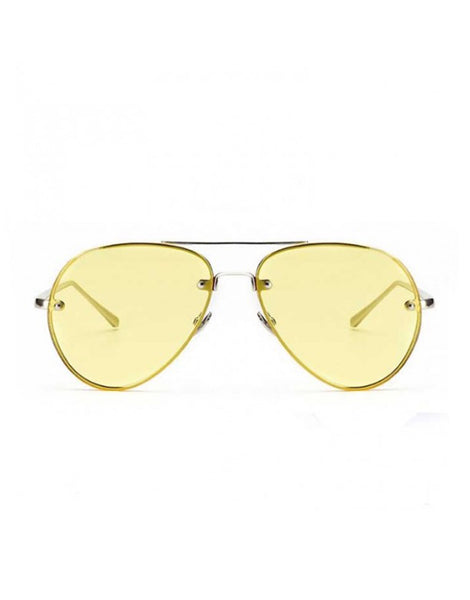 EIGHTY6 JET Aviators Yellow Sunglasses