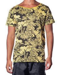 Horn Emporium Angel Is Love Tee - Yellow Printed Mens Tee