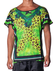 APRIY Acid Green Tee - Printed all-over mens tshirt