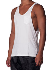Bleach Cutout Tank White