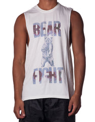 Bleach Bear Fight Tank - Mens Cutout Tank - Printed Tank