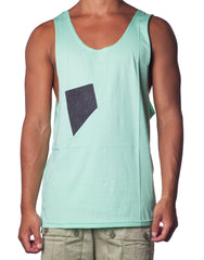 Swing Pocket Singlet Turquoise