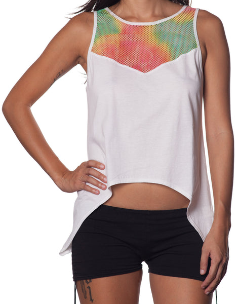 LOVEHUNTER Rainbow Singlet White