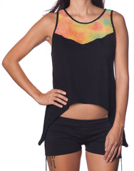 LOVEHUNTER Rainbow Singlet Black