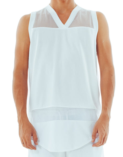 Bleach Mesh Panel Basketball Jersey