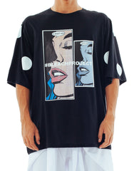 Bleach I Want You Oversized Polka Tee Front