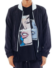 Bleach Project Midnight Running Bomber Jacket Front