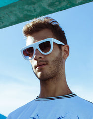 EIGHTY6 Troppo White Sunglasses Model