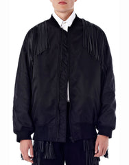 KTZ Layer Fringed Bomber Jacket