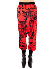 KTZ 4 Cards Print Harem Trousers
