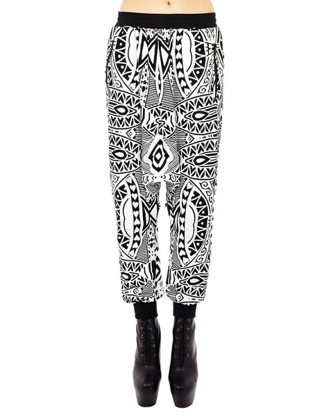 KTZ Card Print Harem Trousers