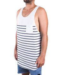 Kapten Singlet White Side