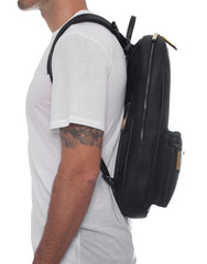 APRIY Leather Laptop Backpack Black
