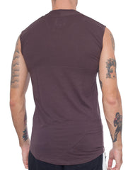 APRIY Fine Sleeveless Tee Brown