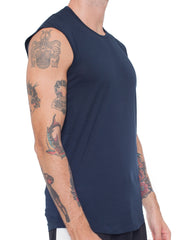 APRIY Fine Sleeveless Tee Navy