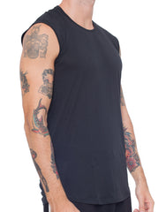 APRIY Fine Sleeveless Tee Black
