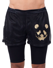 Bleach Double Mesh Shorts Black
