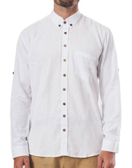 Naken White Button-Up Shirt