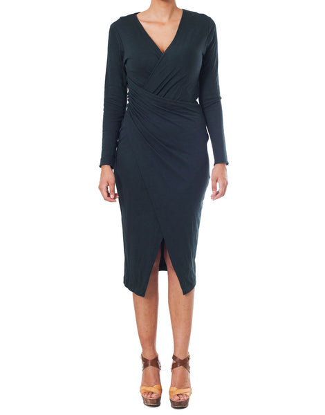 APRIY Women Full Sleeve Wrap Dress
