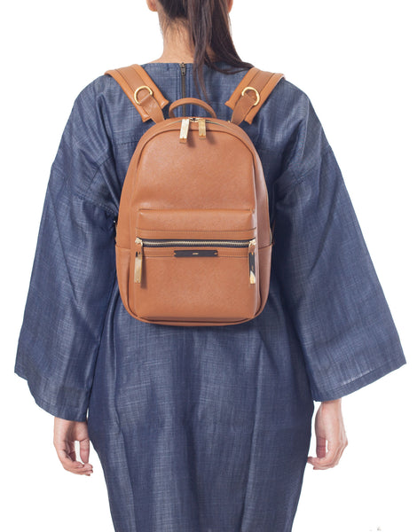 APRIY Small Tanned Backpack