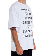 Bleach Oversized White Tee Side