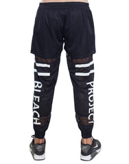 Bleach Project Double Legs Track Pants Black Back