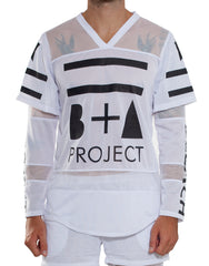 Double Sleeve Hockey Tee White Front