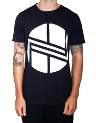 Nemis Black and White Logo Tee