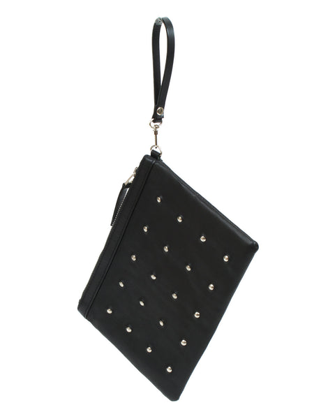 APRIY Studded Leather Pouch