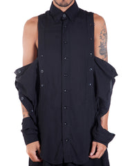 EGR Multi Button Shirt Front Unbuttoned