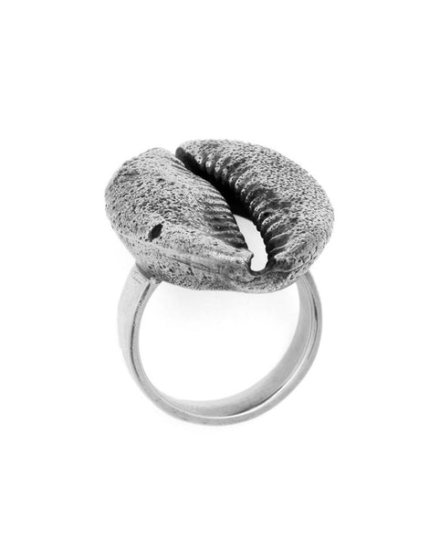 eleven44 Cowrie Shell Ring Silver
