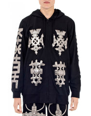 KTZ Embro Metallic Jewel Patch Hoodie Jacket Front