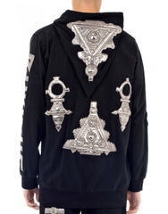 KTZ Embro Metallic Jewel Patch Hoodie Jacket Back