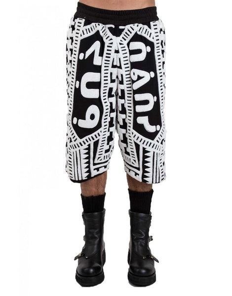 KTZ Dogtooth Towelling Harem Shorts