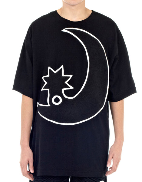 KTZ Moon Embroidered Towelling T-shirt