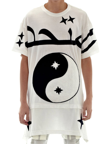 KTZ Ying Yang Embroidered Towelling T-Shirt White