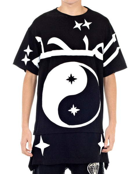 KTZ Ying Yang Embroidered Towelling T-Shirt Black