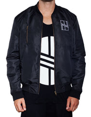 Nemis Black Bomber Jacket