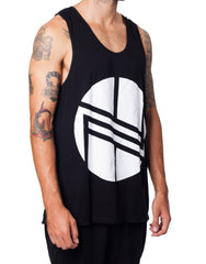 Nemis Black Logo Tank With Back Print
