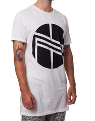 Nemis Long Oversized Logo Tee White