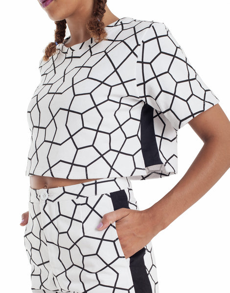 Nemis Women Octa Crop Top