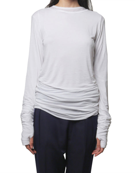 NIKICIO Exaggerated Long-Sleeve Tee White