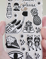 PANTAINANAS DIY Sticker iPhone Case