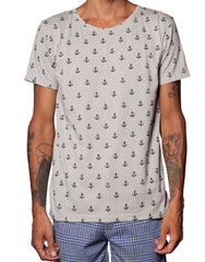 FRANKSLAND Grey Anchor Tee