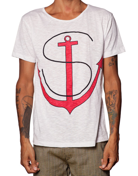 FRANKSLAND White Anchor Tee